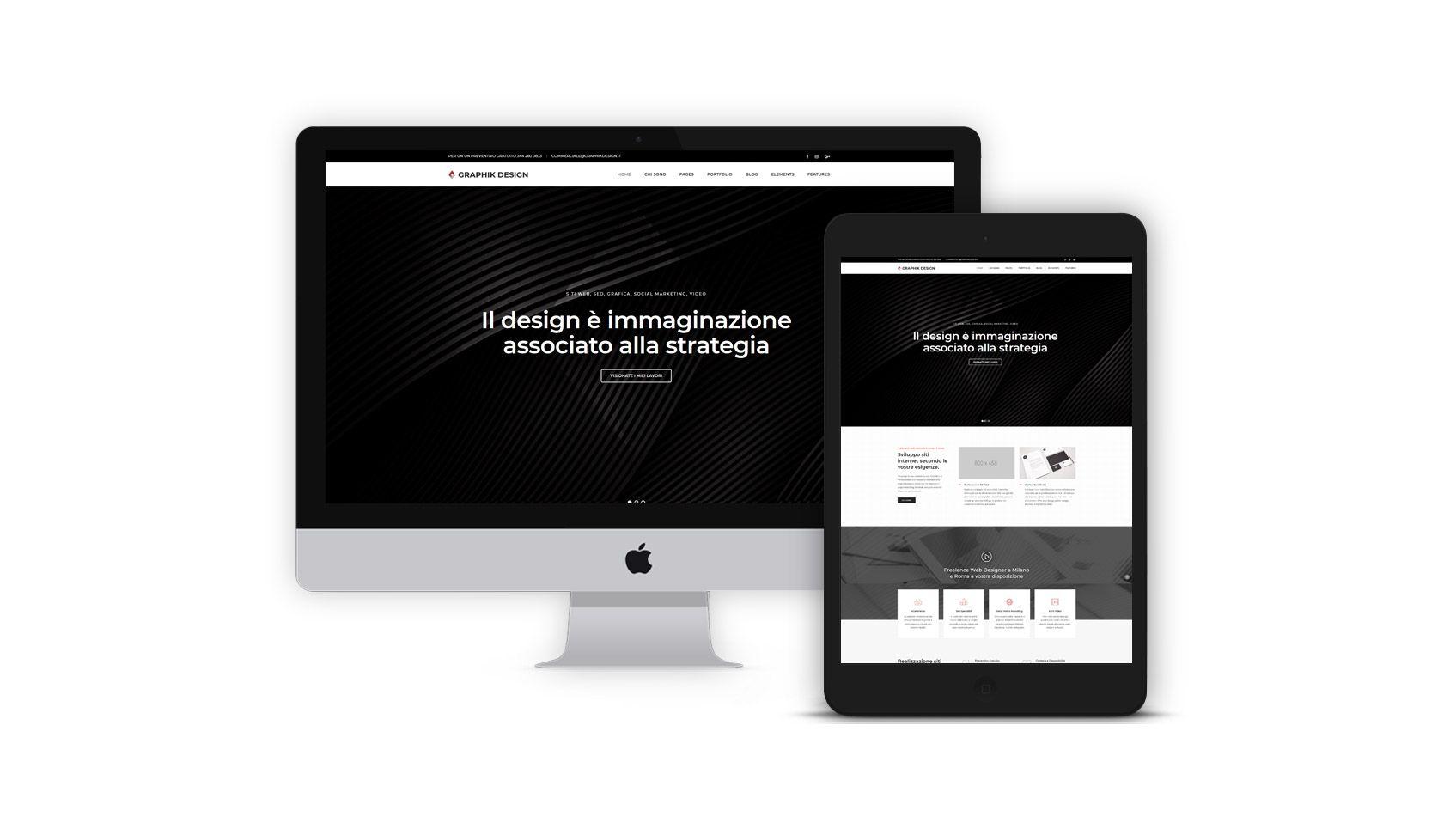 Freelance web designer milano roma realizzazione siti web for Designer milano